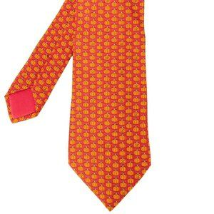 Hermès Red Silk with Orange Jack-O'-Lantern Print